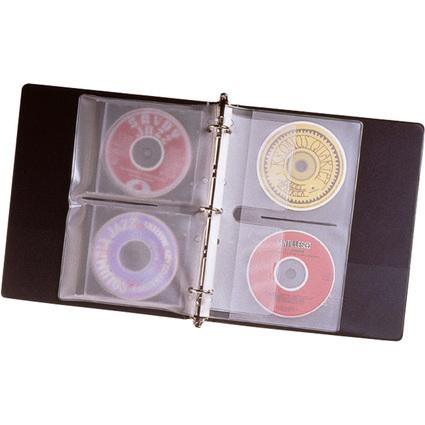 Fellowes CD-/DVD-Prospekthülle, für 2 CDs/DVDs, PP