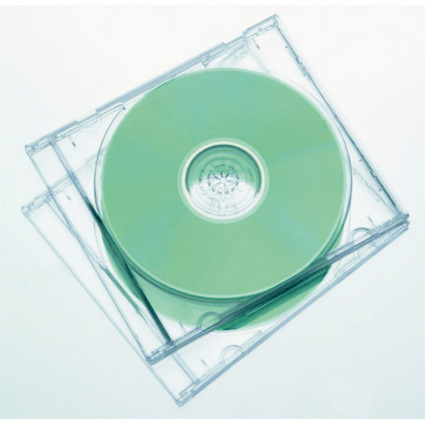 Fellowes CD-Leerhülle Slimline, Slim Case, transparent