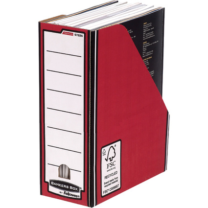 Fellowes BANKERS BOX PREMIUM Archiv-Stehsammler, rot