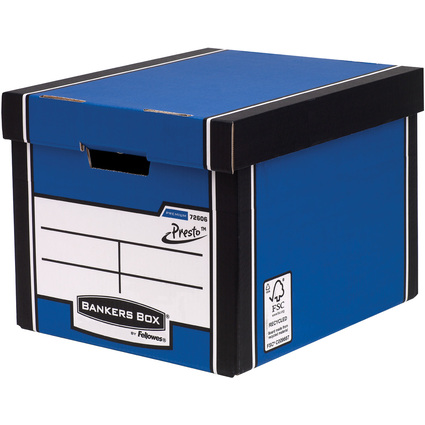 Fellowes BANKERS BOX PREMIUM Hohe Archiv-/Transportbox, blau