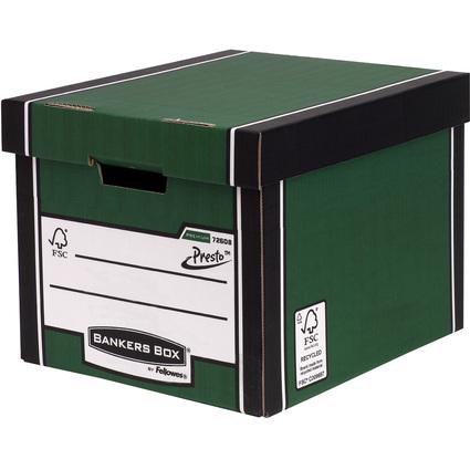 Fellowes BANKERS BOX PREMIUM Hohe Archiv-/Transportbox, grün