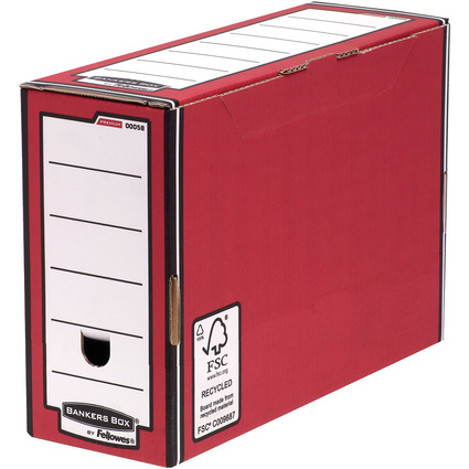 Fellowes BANKERS BOX PREMIUM Archiv-Schachtel, rot