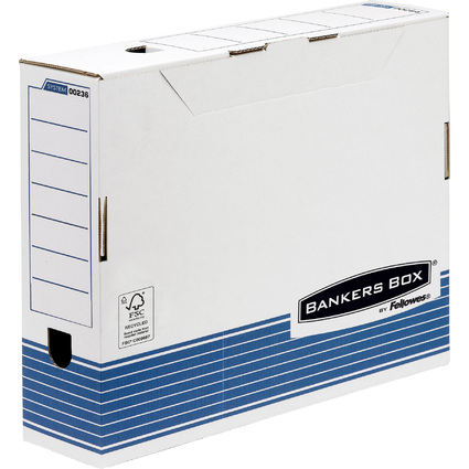 Fellowes BANKERS BOX SYSTEM Archiv-Schachtel, blau,(B)100 mm