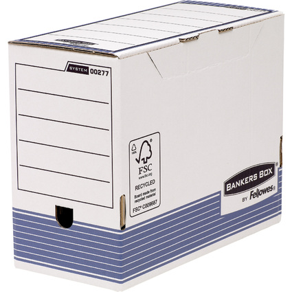 Fellowes BANKERS BOX SYSTEM Archiv-Schachtel, blau,(B)150 mm