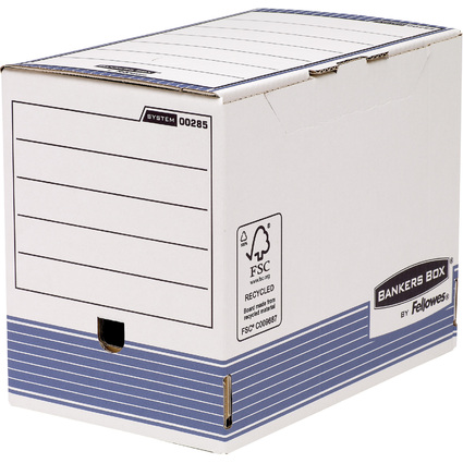 Fellowes BANKERS BOX SYSTEM Archiv-Schachtel, blau,(B)200 mm