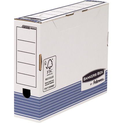 Fellowes BANKERS BOX SYSTEM Archiv-Schachtel, blau, (B)80 mm
