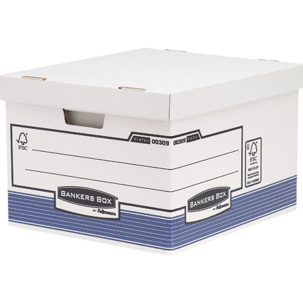 Fellowes BANKERS BOX SYSTEM Große Archiv-/Transportbox, blau