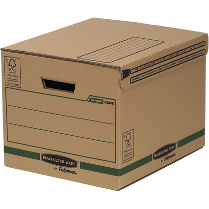 Fellowes BANKERS BOX TRANSIT Archiv-/Versandbox, braun