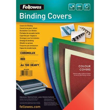 Fellowes Deckblatt Chromolux, glänzend, DIN A4, rot