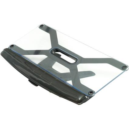 Fellowes Tastatur-Ständer Deluxe, transparent/schwarz