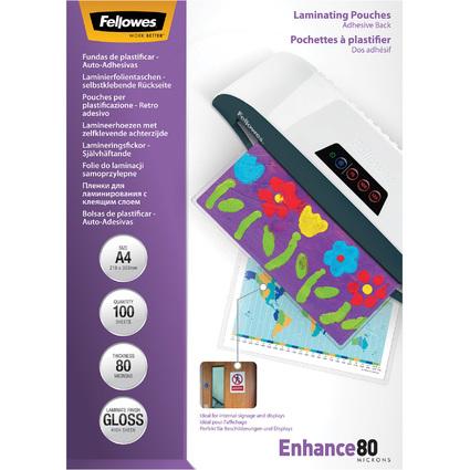 Fellowes Laminierfolientasche Peel & Stick, DIN A4, 160 mic