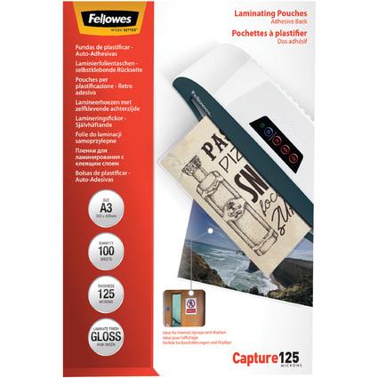 Fellowes Laminierfolientasche, selbstklebend, A3, 250 mic