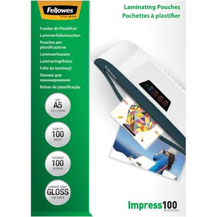 Fellowes Laminierfolientasche, DIN A5, glänzend, 200 mic