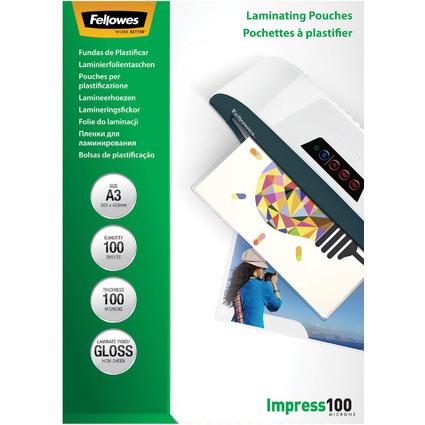 Fellowes Laminierfolientasche, DIN A3, glänzend, 200 mic