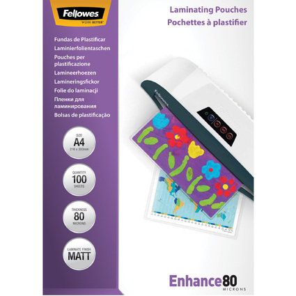 Fellowes Laminierfolientasche, DIN A4, matt, 160 mic