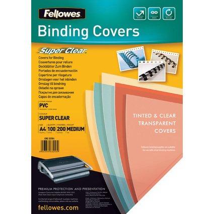 Fellowes Deckblatt SUPER CLEAR, DIN A4, PVC, 0,20 mm