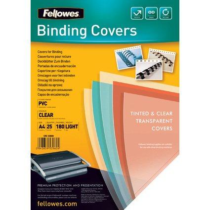 Fellowes Deckblatt, DIN A4, PVC, transparent, 0,18 mm