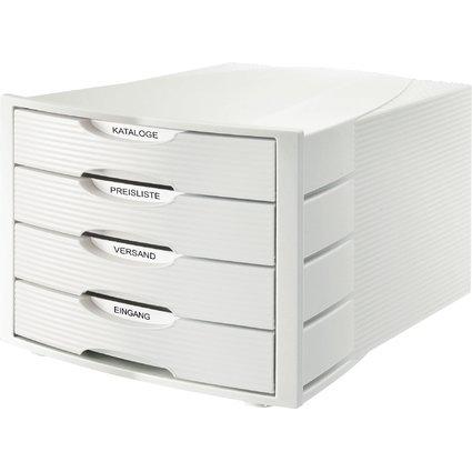 HAN Schubladenbox MONITOR, 4 Schübe, lichtgrau