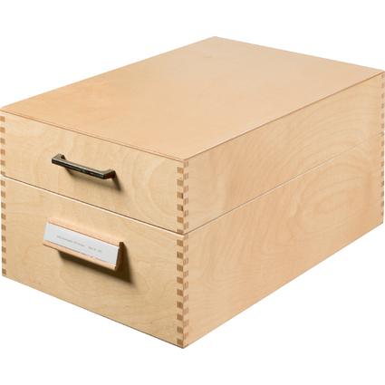 HAN Holz-Karteikasten A5 quer, für 1.000 bis 1.500 Karten