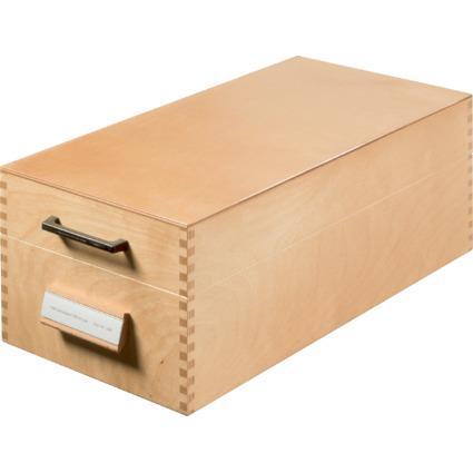 HAN Holz-Karteikasten A6 quer, für 1.000 - 1.500 Karten