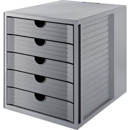 HAN Schubladenbox KARMA, 5 Schübe, Gehäuse: grau