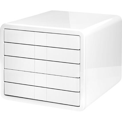 HAN Schubladenbox i-Box, 5 Schübe, Gehäuse: weiß