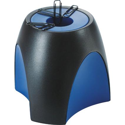 HAN Klammernspender DELTA, Kunststoff, schwarz/blau
