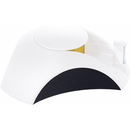 HAN Tischabroller DELTA, Kunststoff, weiß/schwarz