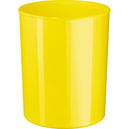 HAN Papierkorb i-Line NEW COLOURS, 13 Liter, rund, gelb