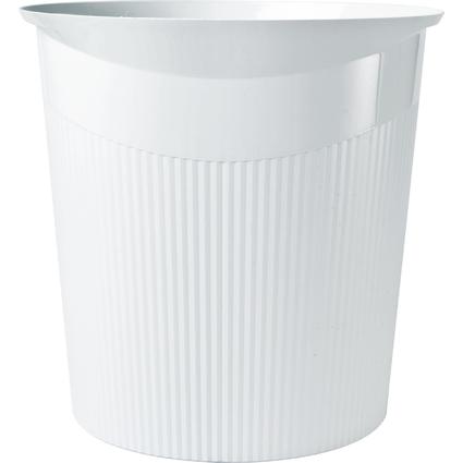 HAN Papierkorb LOOP, 13 Liter, rund, weiß