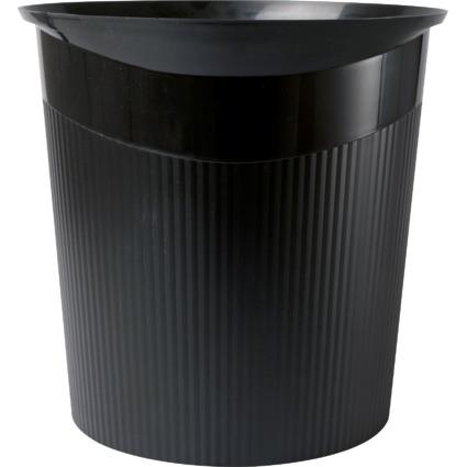HAN Papierkorb LOOP, 13 Liter, rund, schwarz