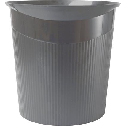 HAN Papierkorb LOOP, 13 Liter, rund, dunkelgrau