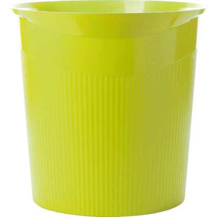 HAN Papierkorb LOOP Trend Colour, 13 Liter, rund, lemon