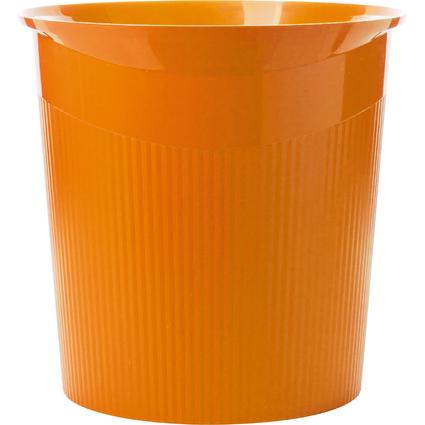 HAN Papierkorb LOOP Trend Colour, 13 Liter, rund, orange