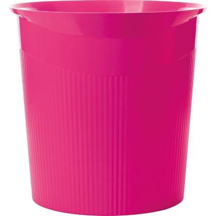 HAN Papierkorb LOOP Trend Colour, 13 Liter, rund, pink
