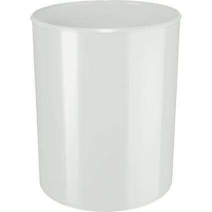 HAN Papierkorb, schwer entflammbar, 20 Liter, lichtgrau