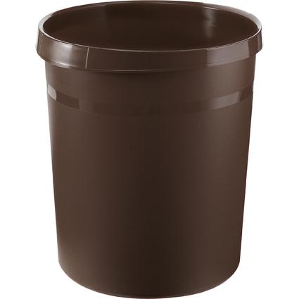 HAN Papierkorb GRIP, 18 Liter, rund, braun