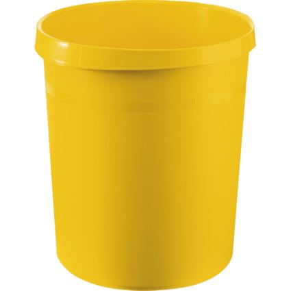 HAN Papierkorb GRIP, 18 Liter, rund, gelb