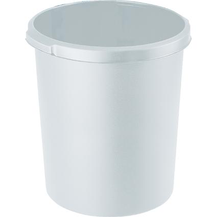 HAN Papierkorb STANDARD, 30 Liter, rund, lichtgrau
