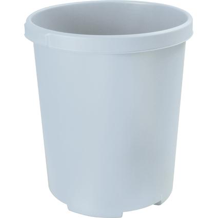 HAN Papierkorb MOBIL XXL, 50 Liter, PP, rund, lichtgrau