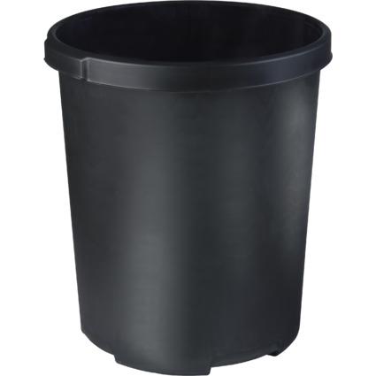 HAN Papierkorb MOBIL XXL, 50 Liter, PP, rund, schwarz