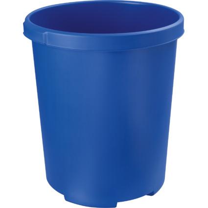 HAN Papierkorb MOBIL XXL, 50 Liter, PP, rund, blau