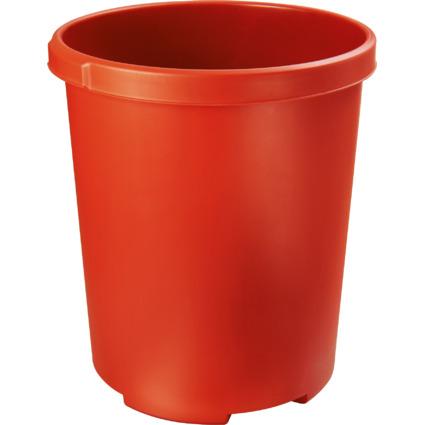 HAN Papierkorb MOBIL XXL, 50 Liter, PP, rund, rot