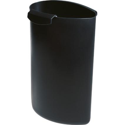 HAN Abfalleinsatz MOON, 6 Liter, ohne Deckel, schwarz