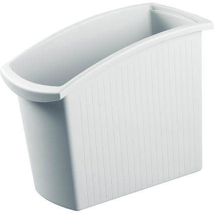 HAN Papierkorb MONDO, 18 Liter, eckig, lichtgrau