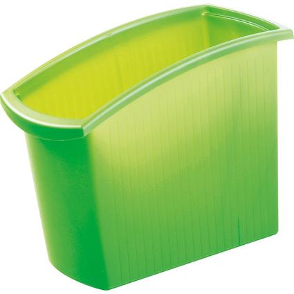 HAN Papierkorb MONDO, 18 Liter, eckig, grün-transluzent