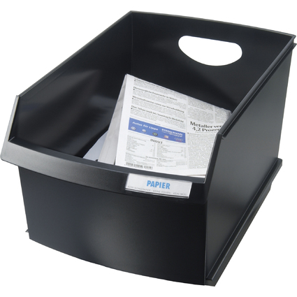 HAN Papierkorb LOGO DRIVE, 25 Liter, eckig, schwarz