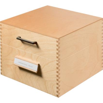 HAN Holz-Karteikasten A5 quer, für 500 - 900 Karten