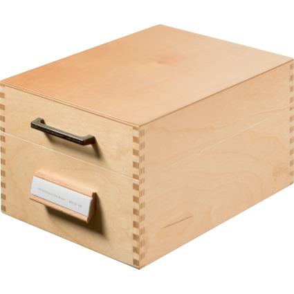 HAN Holz-Karteikasten A6 quer, für 500 - 900 Karten