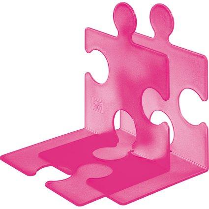 HAN Buchstütze PUZZLE, 2er Set, pink-signal